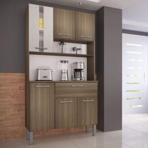 Armário de Cozinha Melissa Genialflex Castanho/Mel 3D | R$140