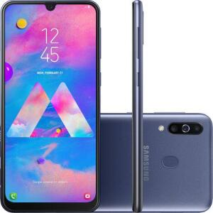 "Smartphone Samsung Galaxy M30 64GB Dual Chip Android 8.1 Tela 6.4"" Octa-Core 4G Câmera 13MP +5MP+5MP - Azul | R$1.214"