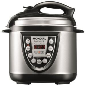 Panela Elétrica de Pressão Mondial Pratic Cook 4L PE-09 - Preto/Inox - R$199
