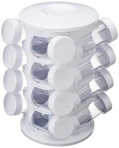 Organizador de Tempero com 16 Peças Mimo Style Branco/Transparente | R$90