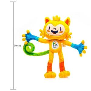 Pelúcia Mascote Olímpico Vinicius 30 Cm - Honav   R$11