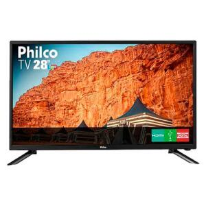 TV LED 28 Philco PH28N91D HD com Conversor Digital USB HDMI Preta por R$ 627