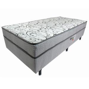 Cama Box Conjugada Solteiro Ortobom Turin Ortopédico com Ortopillow 55x88x188cm - Branco/Cinza R$274