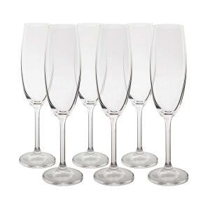 Jogo 6 Taças Champagne 220ml Cristal Bohemia | R$59