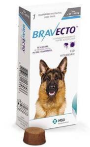 [AME - 5%] BRAVECTO Antipulgas e Carrapatos Para Cães De 20 a 40 KG
