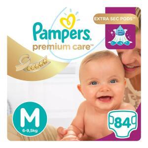 Fralda Pampers Premium Care Jumbo Até 84 Unidades - R$65