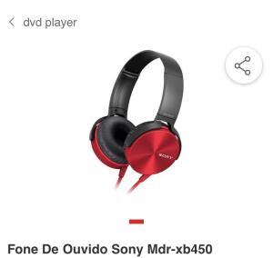 Fone De Ouvido Sony Mdr-xb450