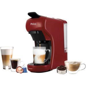 Cafeteira Expresso Philco Multicápsula 3 em 1 PCF19VP - Vermelha 127V [R$ 189,50 com AME]