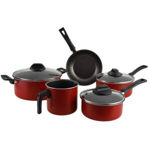 Conjunto de Panelas Antiaderente Vermelha 5 peças - La Cuisine - R$108