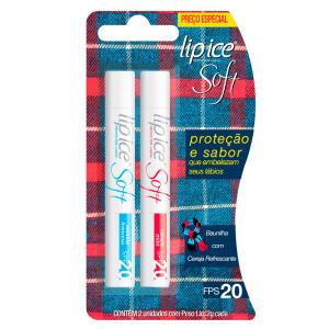 Protetor Labial Lip Ice Cube Soft Fps20 Kit - Baunilha + Cereja Refrescante R$10