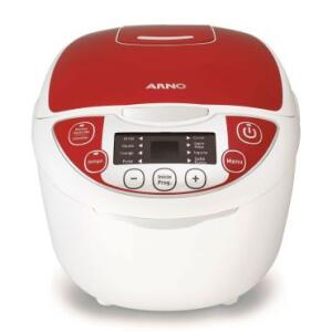 Panela Elétrica Arno Multicooker 5L FC22 Branco/Vermelho - 110v | R$299