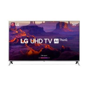 "Smart TV LED 50"" LG 50UK6520 Ultra HD 4K WebOS 4.0 4 HDMI 2 USB - R$ 1796"