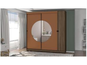 Guarda-roupa Casal 3 Portas 3 Gavetas Kappesberg - PO702-P8 com Espelho por R$ 700
