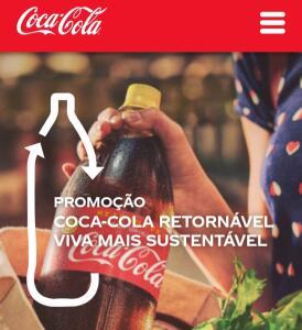 Promoção Coca cola retornável Viva mais sustentável