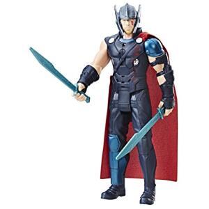 Boneco Eletrônico Thor Ragnarok Hasbro Preto/Vermelho 30cm | R$84