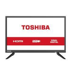 "TV LED 24"" HD Toshiba 24L1850 2 HDMI USB Conversor Digital - R$599"