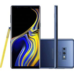 "Smartphone Samsung Galaxy Note 9 128GB Nano Chip Android Tela 6.4"" Octa-Core 2.8GHz 4G Câmera Dupla 12MP 6GB RAM R$3039"