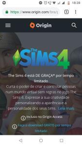 [Origin] The Sims 4 Pc/Mac grátis por tempo limitado