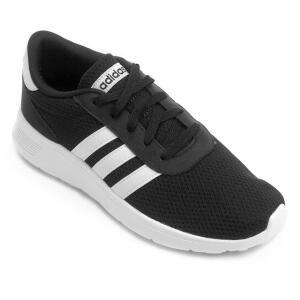Tênis Adidas Lite Racer Masculino - Preto e Branco.