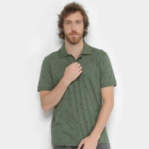 Camisa Polo Burn Full Gravataria Masculina - Verde - Compre Agora | Zattini