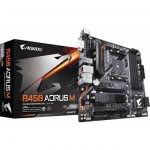 PLACA MÃE GIGABYTE B450 AORUS M, CHIPSET B450, AMD AM4, MATX, DDR4 | R$569