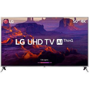 "Smart TV LED 50"" LG 50UK6510 Ultra HD 4k com Conversor Digital 4 HDMI 2 USB Wi-Fi ThinQ AI WebOS 4.0 60Hz Inteligencia Artificial | R$1889"