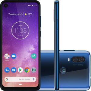 """Smartphone Motorola One Vision 128GB Dual Chip Android Pie 9.0 Tela 6,3"""" 4G + Câmera 48+5MP - Azul Safira por R$"""