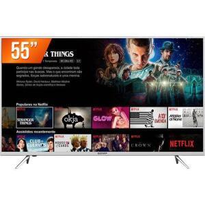 Smart Tv Led 55'' Ultra HD 4k Semp 55k1us 3 Hdmi 2 USB Wi-Fi Integrado Conversor Digital - R$2.116