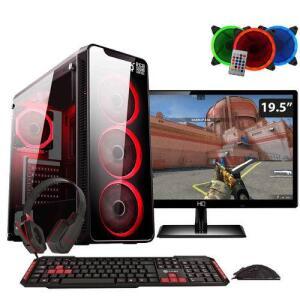 "PC Gamer Completo Easy PC Intel Core i5 (GeForce GTX 1050 Ti 4GB) 8GB HD 1TB Monitor LED 19.5"" - R$2.393"
