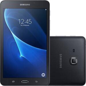 """Tablet Samsung Galaxy Tab A T280 8GB Wi-Fi Tela 7"""" Android Quad-Core - Preto por R$"""