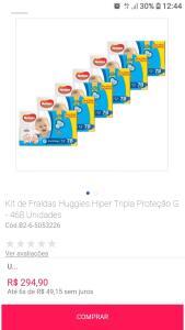 Kit de Fraldas Huggies Hiper Tripla Proteção G - 468 unidades