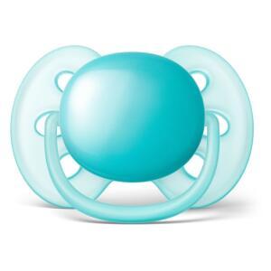 Chupeta Ultra Soft - Lisa Azul - 6 a 18 Meses - Philips Avent | R$20