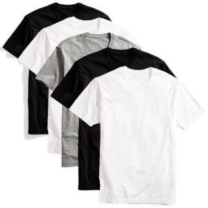 Kit 5 Camisetas Básicas Masculina Part.b T-shirt Algodão Colors Tee