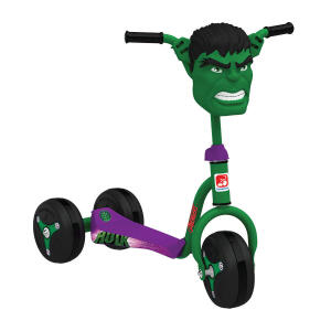 Patinete Bandeirante Clássico 3 Rodas Hulk Verde 3006 R$218