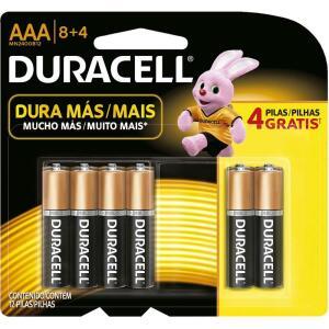 Pilha alcalina palito AAA 12 unidades - R$35