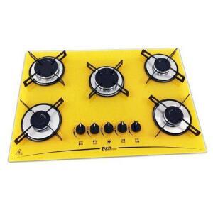 Cooktop 5 Bocas Amarelo Mega Chama D&d Metal Bivolt Ce05am por R$ 323