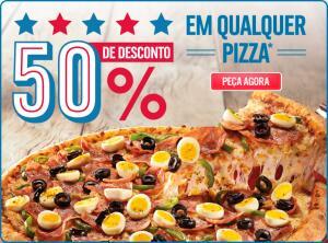 50% OFF em qualquer pizza Domino's