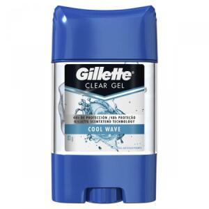 Kit 3 Desodorante Gillette Clear Gel (Antibacteriano/Endurance Cool Wave) R$ 46