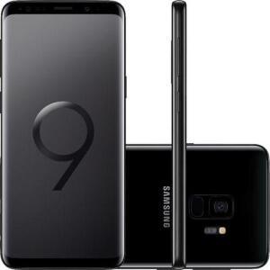 "Smartphone Samsung Galaxy S9 Desbloqueado Tim 128GB Dual Chip Android 8.0 Tela 5,8"" Octa-Core 2.8GHz 4G Câmera 12MP - Preto"