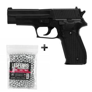 Kit Pistola De Pressão Spring Kwc Sig Sauer P226 4 - Preto R$420