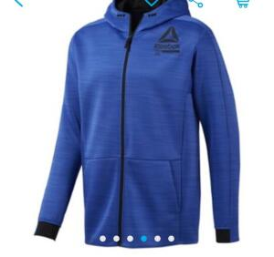 Jaqueta Reebok Ost Spacer Fz Masculina - Azul R$150