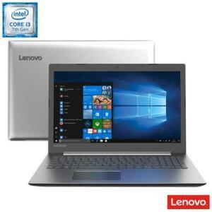 "Notebook Lenovo, Intel® Core™ i3-7020U, 4GB, 1TB, Tela de 15.6"", Intel UHD Graphics 620, Prata, Ideapad 330 - R$1.799"