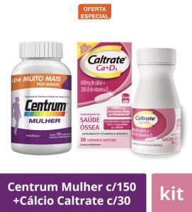 Kit Centrum Mulher c/150 +Cálcio Caltrate c/30
