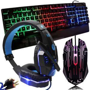 Kit Gamer Hz31 Mouse 3200dpi Teclado Dhj100 Led E Headset - R$99