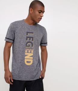 Camiseta esportiva com estampa - Tam. P e M | R$20