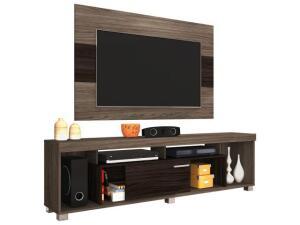 """Rack para TV até 50"""" com Painel Tomaz - 1 Porta de Correr - Madetec por R$ 266"""
