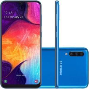 Smartphone Samsung Galaxy A50, 64GB, 25MP, Tela 6.4´, Azul - SM-A505GT/6DL | R$1.469