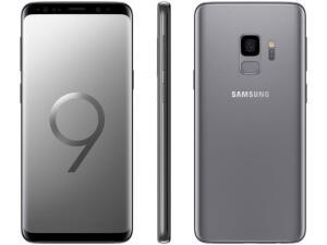 "Smartphone Samsung Galaxy S9 128GB Cinza 4G - 4GB RAM Tela 5,8"" Câm. 12MP + Câm. Selfie 8MP - R$2105"