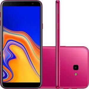 "Smartphone Samsung Galaxy J4+ 32GB Dual Chip Android Tela Infinita 6"" Quad-Core 1.4GHz 4G Câmera 13MP - Rosa - R$674"