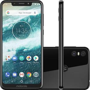 "Smartphone Motorola One 64GB Dual Chip Android Oreo 8.1 Tela 5.9"" 2.0 GHz Octa-Core Qualcomm 4G Câmera 13 + 2MP - Preto - R$999"